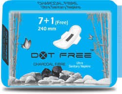 DOTFREE 240mm Charcoal Sanitary Pads