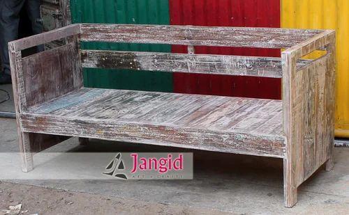 Strange Reclaimed Wooden Garden Bench Machost Co Dining Chair Design Ideas Machostcouk