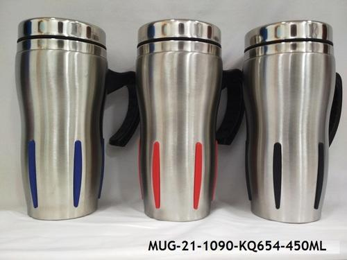 acf839e9930 Stainless Steel Insulated Travel Mug with Sipper Lid -MUG-21, Capacity: 450