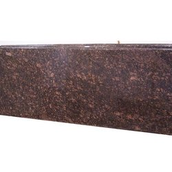 Glossy Tan Brown Granite Slab, Flooring, Thickness: 16 to 18 mm
