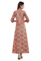 Designer Cotton Gown Pattern Floral Print Kurtis