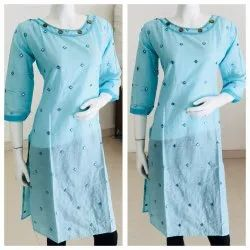 Cotton Mirror Work Kurti