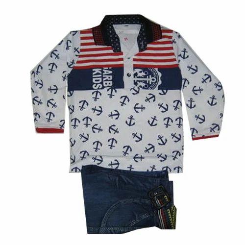 582986ef Kids Casual Wear Clothing Set - Boys Casual Wear Shirt Jeans Set ...