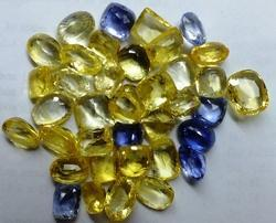 Yellow And Blue Sapphire Gemstone