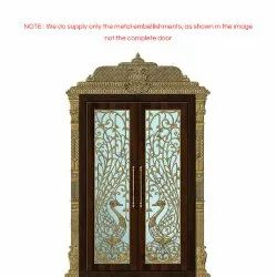 contemporary Copper Pooja Door