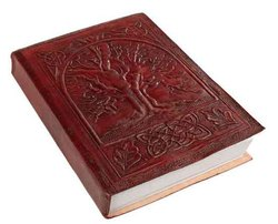 Celtic Tree Of Life Leather Journal Handmade Paper