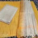 Jute Organza Dress Material With Kota Temple Border Dupatta