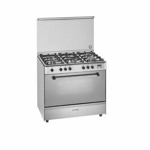 Silver 5 Burner Cooking Range