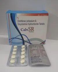 Diclofenac Potassium B.P 50mg  Dicyclomine Hydrochloride I.P 20mg Tablet