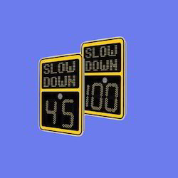 Variable Message Sign- Speed Limit Display Sign, Shape: Rectangular