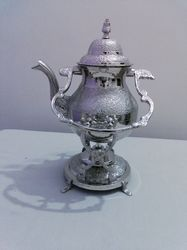 Silver Engrave Tea Pot
