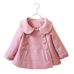 Pink Woolen Baby Girl Coat