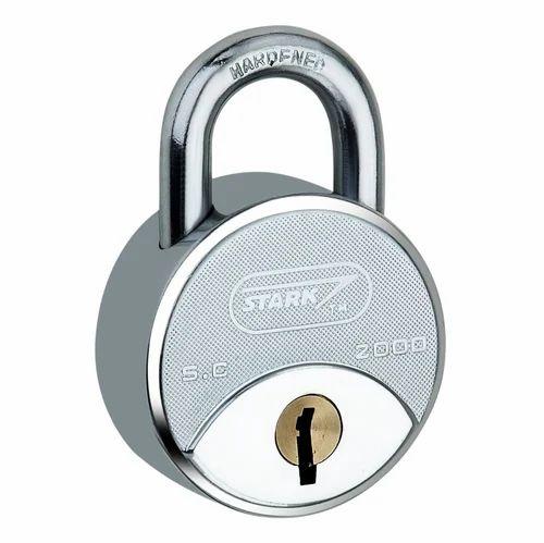 Hardened Steel Doors Padlock 58 mm, Chrome, Packaging Size: 5 Piece