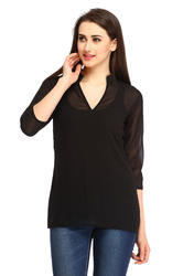 DSS9085A Solid Georgette Top