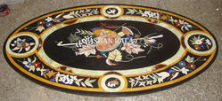 Marble Oval Shape Table Top