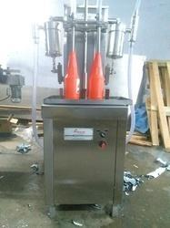 Semi Automatic 2 Head Liquid Filling Machine