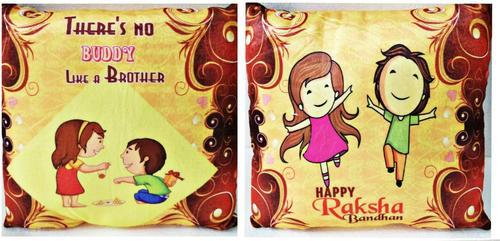 Velvet 100% Cotton Rakshabandhan Cushion, Size: 45x45 Cm