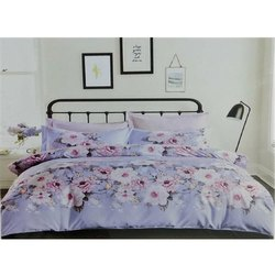 Flower Printed Cotton Double Bed Sheets