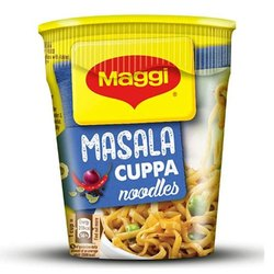 Cup Noodles Hot And Spicy Maggi Masala Cuppa Noodles, Packaging Size: 70g