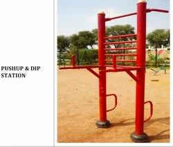 Mild Steel Push Up And Dip Station, For Garden