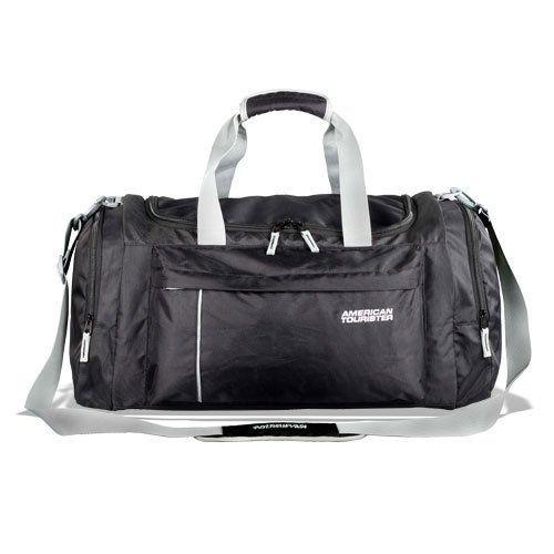 American Tourister Black And White Duffle Bag 98cc6a403836f