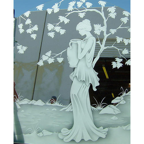 Dom Glass Decorative Mirror Etched Glass Rs 295 Square Feet Dom Glass Brand Of Diamond Overseas Marketing Id 16292515712