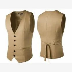 Brown Plain Mens Party Wear Waistcoat, Size: 36 - 54