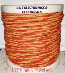 Glass Fiber Asbestos Braided N Type Thermocouple Wire