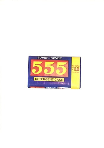 555 Super Power Detergent Cake - 230g, Packaging Size: 230 Gm, Shape: Rectangle