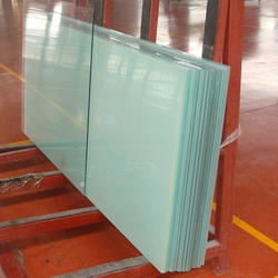 12mm Toughened Partition Glass With Door, Shape: Flat