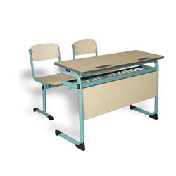 Double Seater Two Chairs Table School Desk Bench