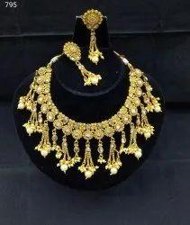 Golden Brass Fashion Necklace, Festivals