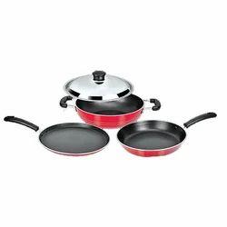 Mild Steel Polished Cookware Set, For Kitchen