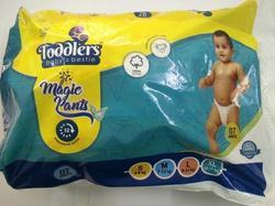 White Toddlers Disposable Diapers Organic Large