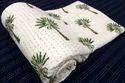 Hand Block Print Cotton Kantha Quilt