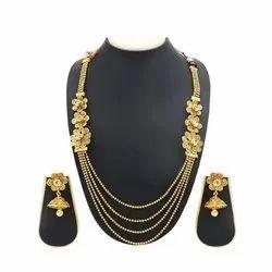 Brass Golden Artificial Necklace Rani Haar