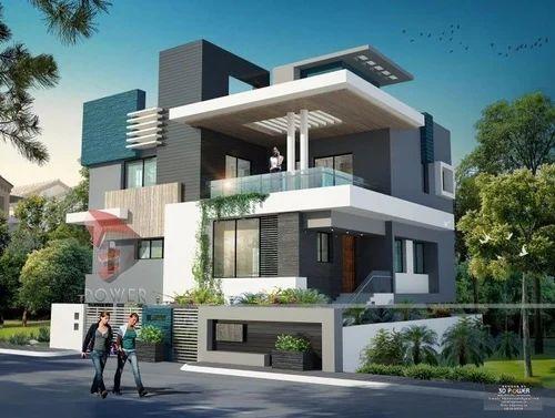 Front Elevation Designs In Chandigarh : Bungalow designs residential interior designer unique