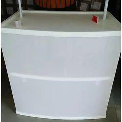 White Pvc Plastic Promotional Table, Size: 3 X 6 Ft