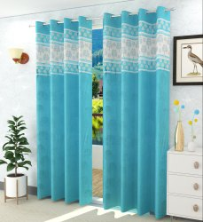 Polyester Copper Patch Readymade Curtains Dazzle Dreams for Home