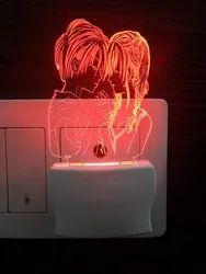 Ajanta 3D Love Couple Frame Night Lamp Code 2005 Night Lamp Multi Colour
