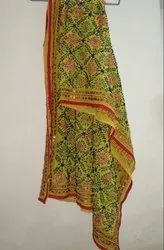 Multicolor Georgette Hand Work Dupatta