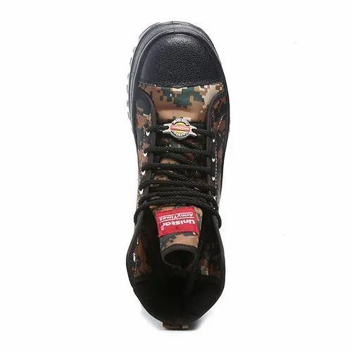f6e411f3e579 Unistar Anti Skid Cobra Print Mens High Ankle Jungle Boots at Rs ...