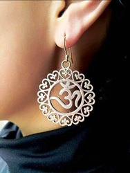 Brass Earring with Om Design