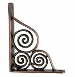 Gilboa Brass Shelf Bracket