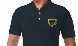 Custom Embroidered T Shirt - Polo Neck