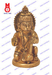 Hanuman Sitting On Rd.Base Statue