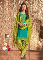 Cotton Silk Casual Wear Patiala Suits