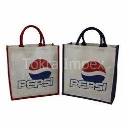 Printed Fashion Jute Fabric Tote Bag, Capacity: 15 Kgs, Size/Dimension: 38 H X 38 W X 15 Cm
