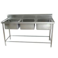 Three Basin SS Kitchen Sink
