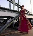 PR Fashion Designer Ready Made Silk Based Kurti